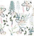 pattern with flying multicolored butterflies vector image vector image