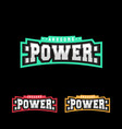 power logo design retro sport strong logotype vector image vector image