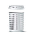 realistic 3d empty white laundry basket vector image vector image