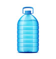 realistic plastic bottle for fresh water vector image vector image