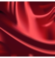 Red fabric drapery background vector image