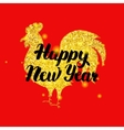 Red Rooster New Year Poster vector image