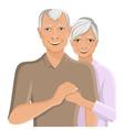 Senior couple portrait vector image vector image