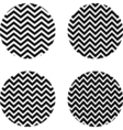 set circles with zigzag pattern vector image