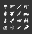 set icons army and military vector image