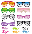 Set of colorful sunglasses vector | Price: 1 Credit (USD $1)