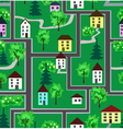 Small city district seamless pattern vector image vector image