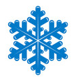 snowflake icon simple style vector image vector image