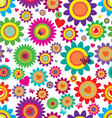 Spring flowers - seamless pattern vector image vector image