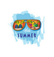 summer beach with sunglasses vector image