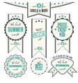 summer events related vintage labels vector image