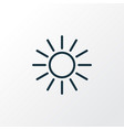 sunshine outline symbol premium quality isolated vector image