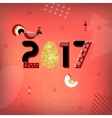 Symbol of good luck in 2017 Rooster vector image