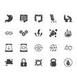 symptoms of abdominal disease flat glyph icons set vector image