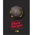Top view of black cheesburger on the vector image vector image