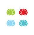 tulip flower logo designs template vector image
