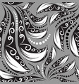 vintage floral monochrome paisley seamless vector image vector image
