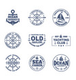 yacht or ship boat icons for nautical travel vector image