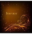 Beautiful gold pattern on dark background with vector image