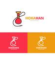 hookah logo unique shisha and turkish vector image