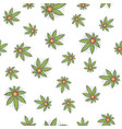 seamless texture medical marijuana five vector image