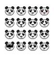 panda emoticon vector image