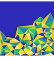 Abstract geometric background in blue yellow and vector image