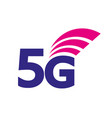 5g icon 5th generation wireless internet vector image vector image
