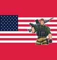 american soldier background vector image