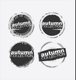 autumn collection grungy stamp 3 vector image