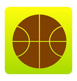 basketball ball sign brown vector image vector image