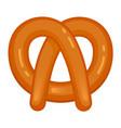bavarian pretzel icon cartoon style vector image vector image