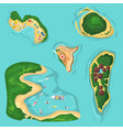 beautiful seamless tropical island pattern on blue vector image vector image