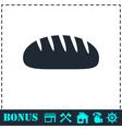 Bread icon flat vector image