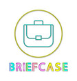 briefcase bright linear round web icon template vector image vector image