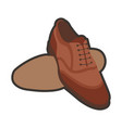 brown classic shoes vector image vector image