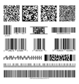 Business barcodes and QR codes set vector image vector image