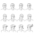 Business Emotions Avatars Set vector image