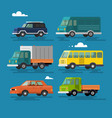 cars and vehicles transport vector image vector image