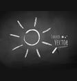 Chalkboard drawing of sun vector image vector image