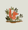 chipmunk in the forest scene vector image vector image