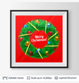 christmas decorative wreath in a frame vector image vector image