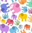 Colored elephant seamless pattern Cute animals vector image