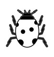 cute ladybug insect vector image vector image