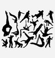 dance and acrobat silhouette vector image vector image