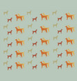 dogs of different colors on a gray background vector image vector image