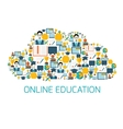 Education icons cloud vector image vector image