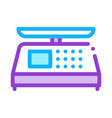 electronic scale icon outline vector image