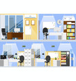 empty office interior two floor office room space vector image