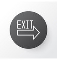 exit sign icon symbol premium quality isolated vector image